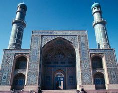 The main mosque in Herat, Afghanistan dated back to the days of Tamerlane (1336 -1405)