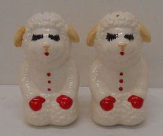 1993 Shari Lewis Puppet Lamb Chop Salt & Pepper Shakers HTF NIB