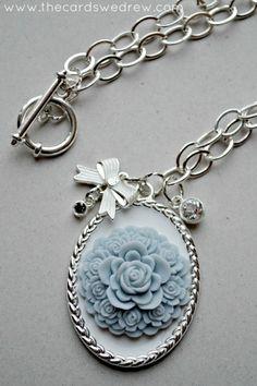 DIY Pendant Necklace with Martha Stewart Crafts Jewelry exclusively at Michaels Stores #marthastewartcrafts