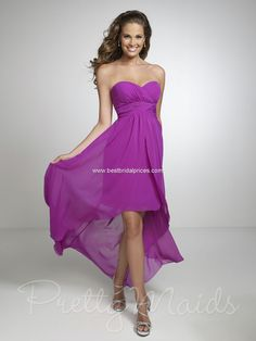 I think I want these! My bride's maids deserve to be beautiful too! Hi Low Pretty Maids Bridesmaid Dresses - Style 22531