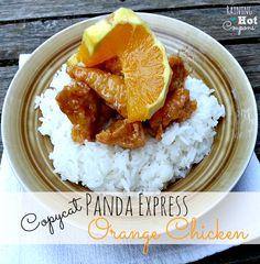 copycat panda express Panda Express Copycat Orange Chicken Recipe....I don't have the ingredients but it looks yummy