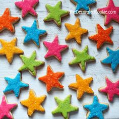 sparkly star decorated cookies for superstar TEACHERS!