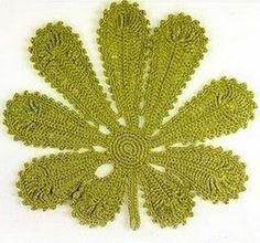 Схемы листиков крючком...Awesome Irish crochet leaf!.. Free diagrams!