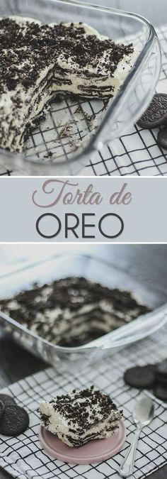 Torta Gelada de Oreo A super easy, quick and delicious dessert. Any dessert that takes Oreo crackers can not be bad. Easy Cupcake Recipes, Dessert Recipes, Oreo Torta, Oreo Icebox Cake, Dessert Oreo, Delicious Desserts, Yummy Food, Fat Foods, Aesthetic Food