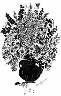 Bouquet dans son vase