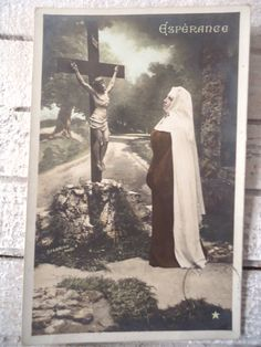 Antique nun photo postcard Nun in burgundy red by LizKnijnenburg, St Therese Prayer, Nun Costume, Nuns Habits, Bride Of Christ, Jesus On The Cross, Photo Postcards, Catholic, Brides, Sisters