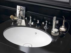 Design Handwaschbecken Badezimmer Barock Schwarz Weiss Oval Luxus # Badezimmer #bathroom #ideas