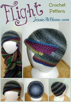 Flight Hat Free Crochet Pattern by Jessie At Home ~ free crochet patterns ~