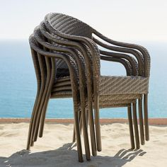 Cafe Curved Back Stacking Chairs, Set Of Four
