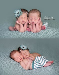 Newborn Twin Photography by Niki Schmidt Photography / Tampa, Florida Newborn Photographer www.NikiSchmidtPhotography.com