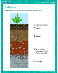 Soil Layers – Kids' geography worksheet