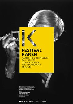 Festival Karsh / Posters by Charley Massiera, via Behance