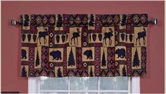 Moose Bear Trees Lodge kokopelli Tapestry Window Valance - *** For more information, visit image link. (This is an affiliate link) #WindowTreatments
