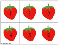 FREE Strawberry Counting Cards I have berries on the brain this week. Walking around the Farmer's Market on Saturday mornings, I cannot help but notice how beautiful all the berries ar… Preschool Science Activities, Eyfs Activities, Kindergarten Activities, Math For Kids, Fun Math, Mother Teach, Farm Theme, Teaching Kids, Counting