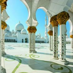 Sheikh Zayed mosque in Abu Dhabi is the biggest mosque in the United Arab Emirates and the eighth largest in the world.I've been there & it's beautiful...