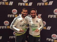 Ganadores del Torneo #FIFA16 Pro Player. @JeseRodriguez10 y @DaniCarvajal92. #RMTour2015 #HalaMadrid