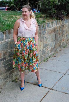 floral anthropologie skirt