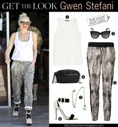Get the look Gwen Stefani  #thelookforless #celebritystyle