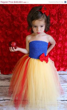 SALE Newborn - Size 9 Snow White Inspired Tutu Dress