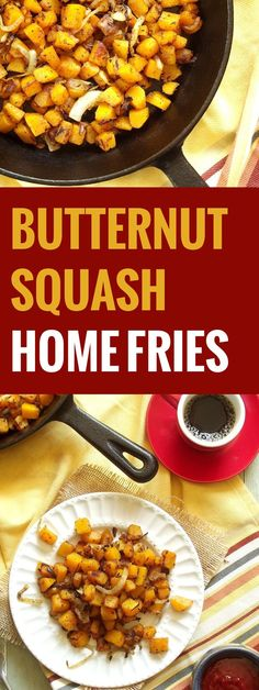 Butternut Squash Home Fries - Used big squash and 1.5 large onion and old bay as the topping. Delicious !!!