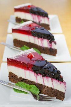 Rezy s tvarohovým krémom a želé Slovak Recipes, Czech Recipes, Czech Desserts, Fitness Cake, Sweet Recipes, Cake Recipes, Healthy Cake, Sweet And Salty, Desert Recipes