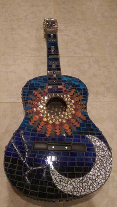 Guitar mosaic art