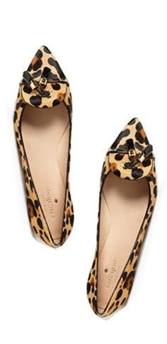 leopard print flats #katespade