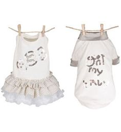Pupppy Dog Clothes 'Biscuit Couple' Designer Louis Dog