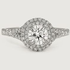 Love the glamorous feel of this sparkling diamond engagement ring.