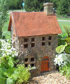 Take a look at this Preston's Place Garden Fairy House by Wholesale Fairy Gardens on today! Fairy Garden Houses, Gnome Garden, Gnome Village, Fairy Village, Princess Doll House, Miniature Fairy Gardens, Mini Gardens, Fairytale Cottage, Clay Houses