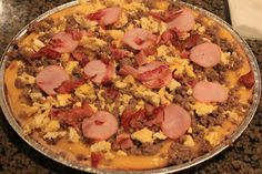 Never trust a skinny cook....: Breakfast pizza The blogger says it is spot on to Casey's breakfast pizza