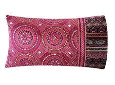 Pink Mandala Pillow Case Satin Pillowcase Moroccan by SatinSwank