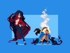 Hunter is an artist who has worked on games like Duelyst and Ikenfell. Pixel Art, Pixel Life, Character Art, Character Design, Pixel Animation, Video Game Development, Art Inspo, Game Art, Comics