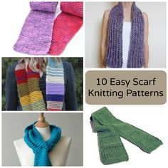 Easy doesn't have to mean boring! Download any of Craftsy's top easy scarf knitting patterns for a fabulous first or second knitting project for beginners.