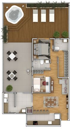 hotel floor plan To see more visit House Layout Plans, Small House Plans, House Floor Plans, Layouts Casa, House Layouts, Usonian House, House Construction Plan, Hotel Floor Plan, Model House Plan