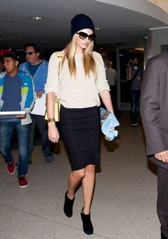 Candice Swanepoel Pencil Skirt - Candice Swanepoel Looks - StyleBistro