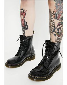 91a33cecd07 Black Patent 1460 8 Eye Boots Dr Martens 1460