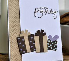 ▷ 1001 + ideas on how to design birthday cards yourself- ▷ 1001 + Ideen, wie Sie Geburtstagskarten selber gestalten Birthday cards make gifts for yourself - Bday Cards, Birthday Cards For Men, Handmade Birthday Cards, Diy Birthday, Birthday Presents, Cards For Men Handmade, Scrapbook Birthday Cards, Scrapbook Cards, Birthday Packages