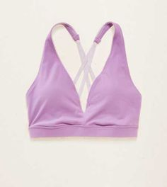 Aerie Lightly Lined Strappy Sports Bra. Pretty & supportive, it's your exercise routine's BFF. #Aerie