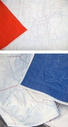 DIY: US Map Quilt