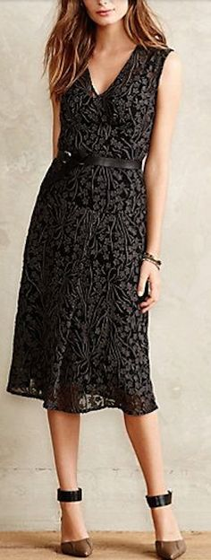 lovely black lacefall dress #anthrofave http://rstyle.me/n/rfyy5r9te