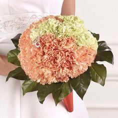 Carnation bouquet -- blush and cream