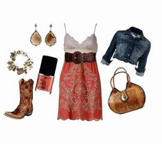 The right outfit with cowboy boots & a dress