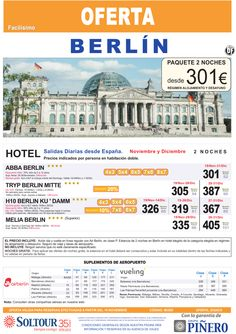 Berlín (Avión + Hotel) salidas diarias desde España - Diciembre ultimo minuto - http://zocotours.com/berlin-avion-hotel-salidas-diarias-desde-espana-diciembre-ultimo-minuto/