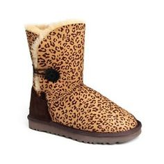 UGG Boots Bailey Button 5803-Leopard [UGG Boots Bailey Button 5803-Leo] - $128.00 :