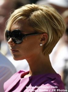 Short-this is a pixie cut with 9n color. I would recommend to use rootful 06 for long lasting, touchable fullness. To get this look you will need to flat iron the hair and use duo shield 07 to protect the color and to add body and shape. i would like to see her back in 4 weeks to keep her style going.: