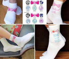 sweet on… BOWTASTIC monogram sorority socks from Sockprints!! <3 <3 https://www.etsy.com/shop/SockprintsOnEtsy