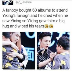 Of course he did because Yixing is an actual angel and is too precious for this cruel world
