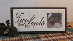 Two Souls One Heart  Unique Wedding Gift Wooden by NelsonsGifts