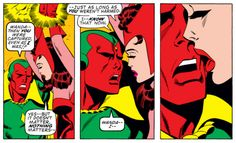Doomed Superhero romance from Roy Thomas and Sal Buscema, Avengers